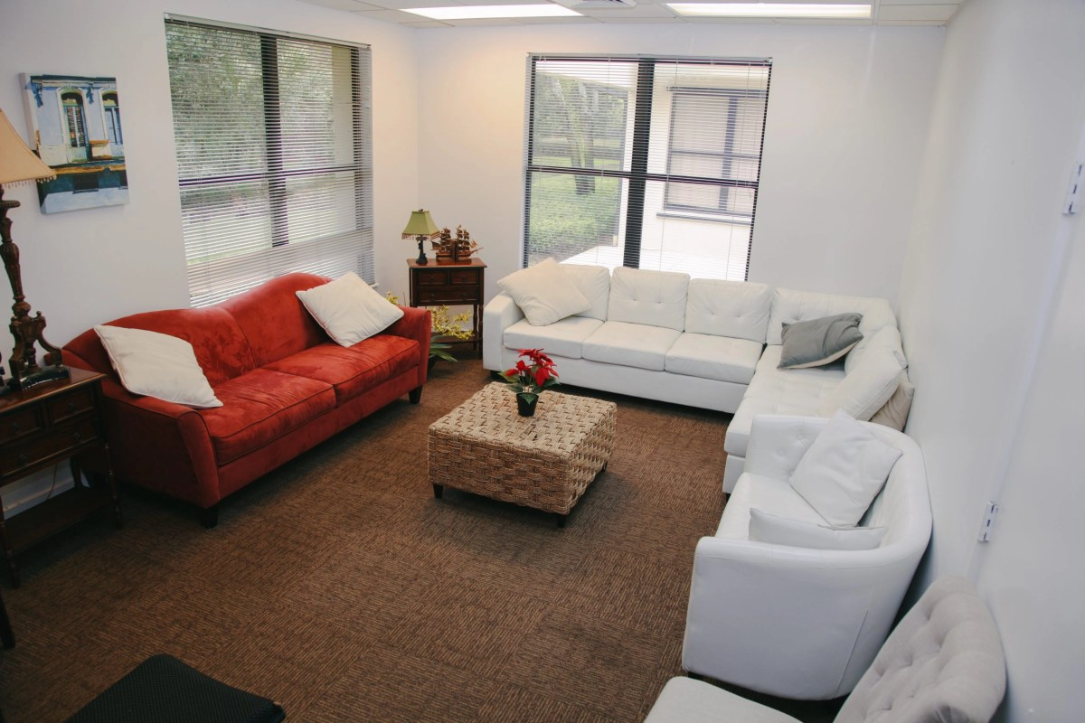 Client meeting area at desert rose recovery