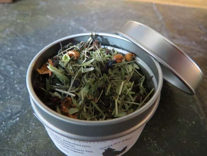 Small Metal Tin full of herbal tea