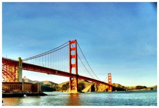 golden gate bridge sunset HDR