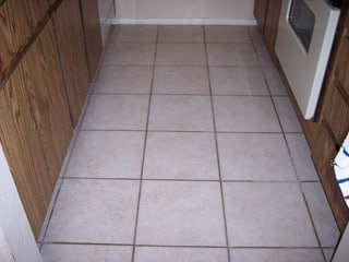 Expert Affordable Ceramic Tile Cleaning   Desert Tile   Grout Care The dark brown grout in this tile floor in Gilbert Arizona is actually  supposed to be