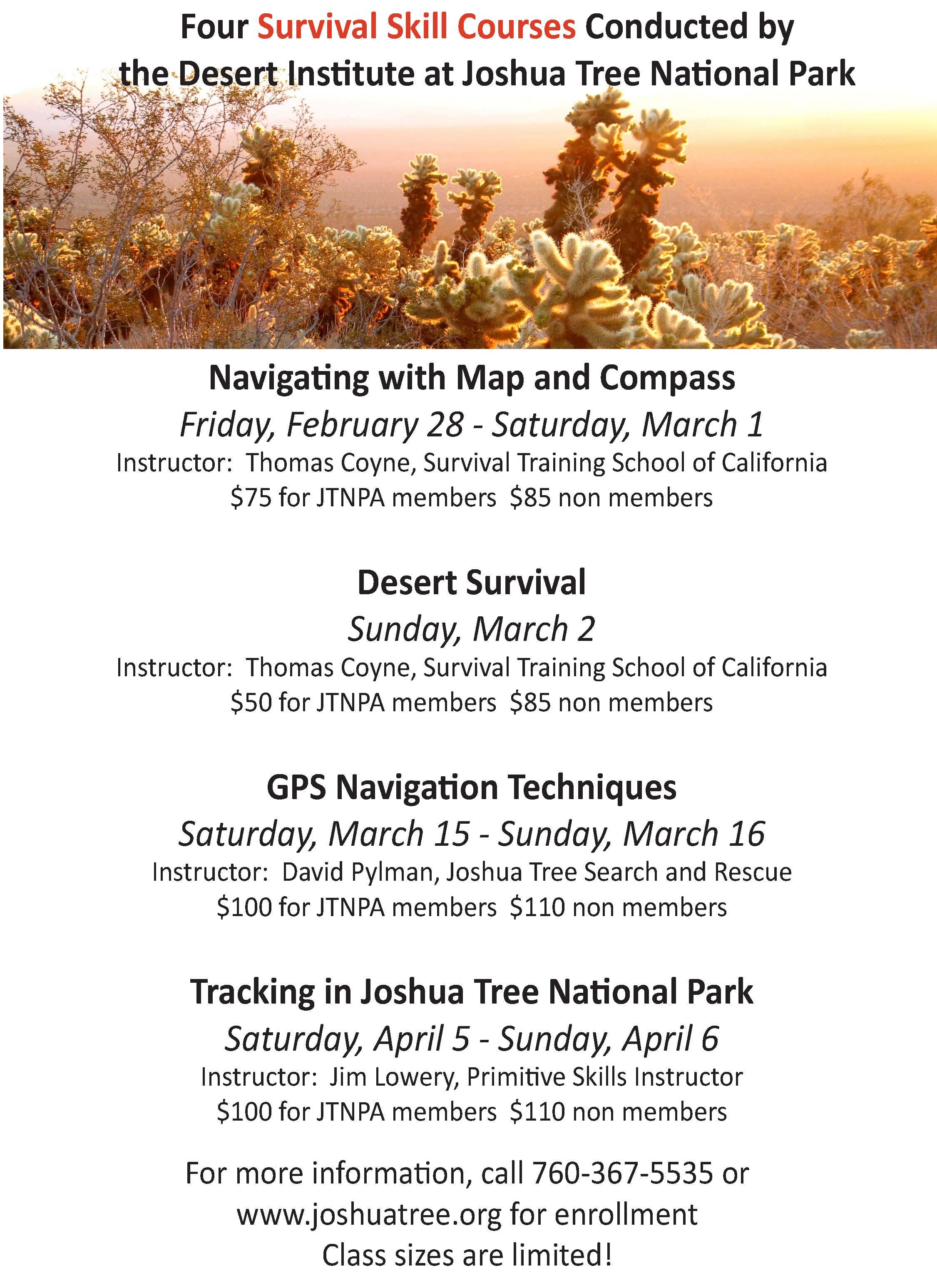 Desert Institute Offering Desert Survival Skills Classes