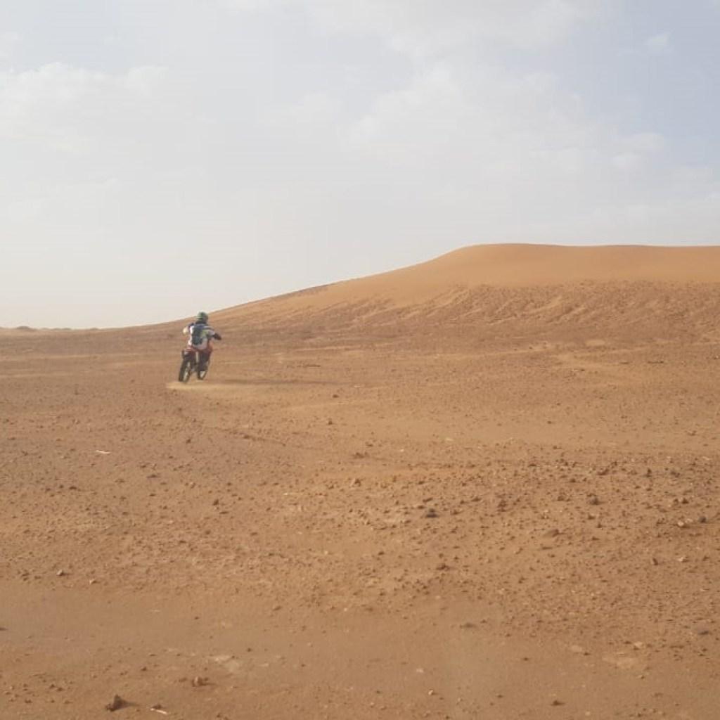 morocco desert KTM motorbike trip