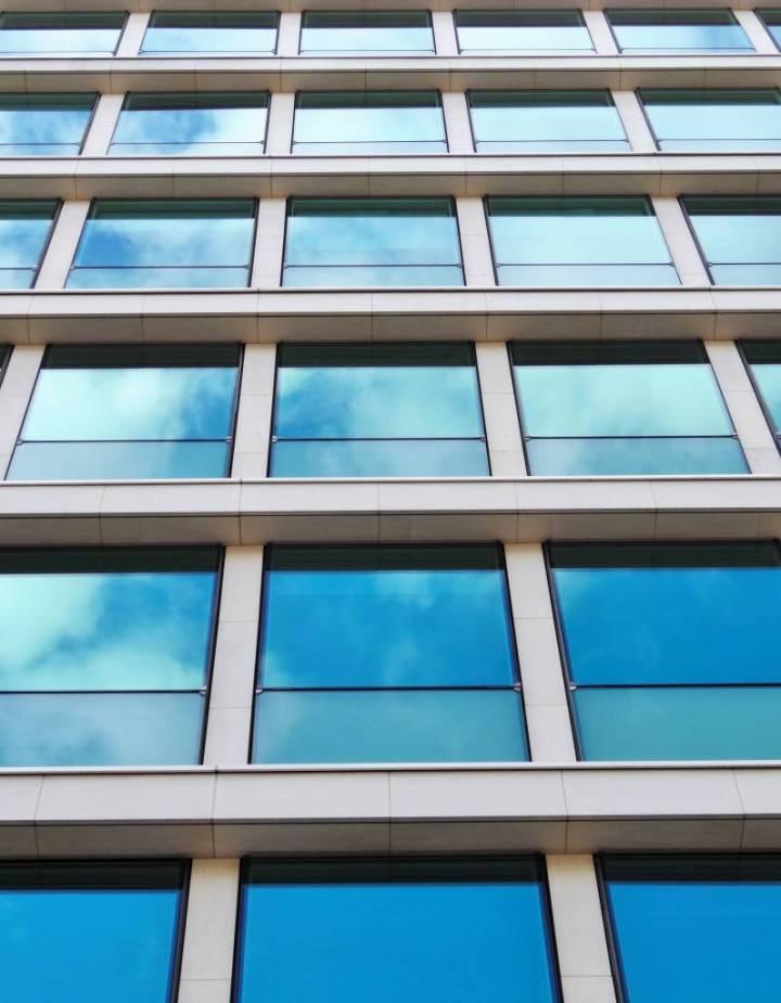 Immeuble bleu