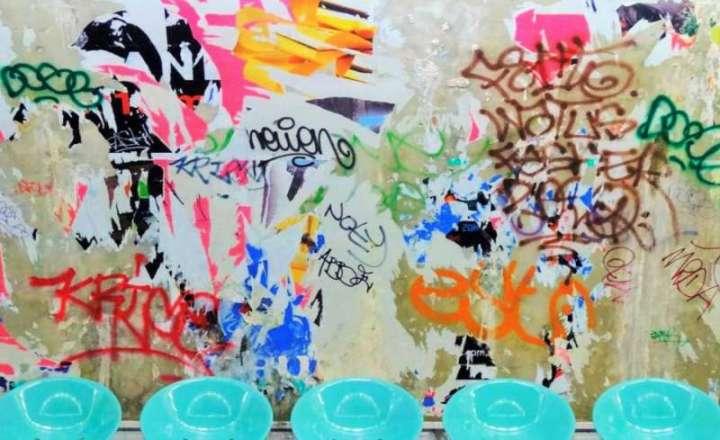 Graffitis dans le métro