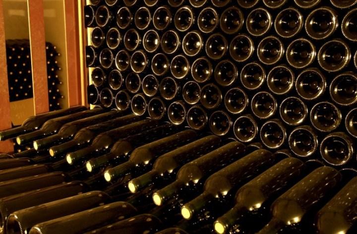 La capsule sur les bouchons de vin
