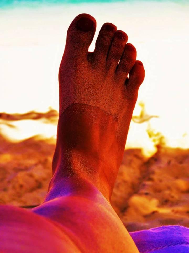 Doigts de pieds en éventail