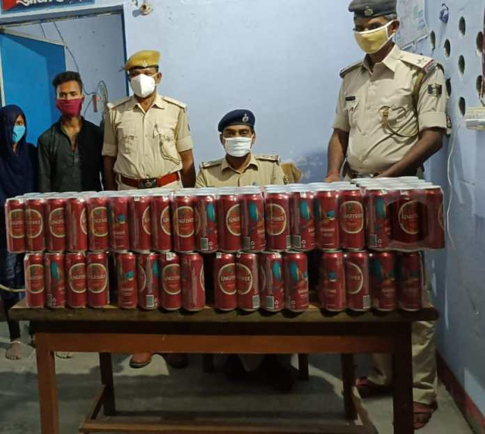 Crime In Bihar: 167 liters of 500 ml foreign liquor two businessmen arrested with a bolero in bagha, bihar | Deshaj Times