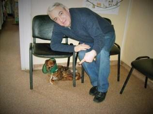 Avedis et Piky chez le vétérinaire (janvier 2013)