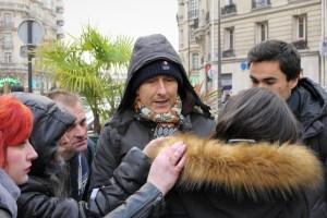 Action anti-fourrure Zapa à Paris 16ème (décembre 2017)