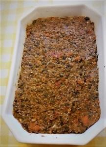Lentilles et quinoa façon 'pain de viande'_avant cuisson -cuisine vegan