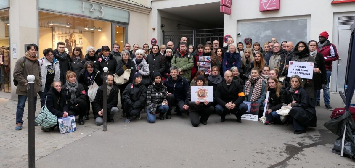 Manifestation anti-fourrure Zapa_26 novembre 2016