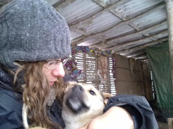 Molly-avec-Irina-au-refuge (janvier 2012)