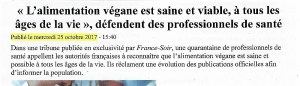 Tribune France-Soir - actions véganes