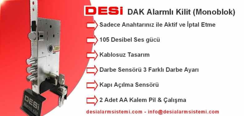 Kapı Alarmlı Kilit Modeli DESİ Dak Monoblok Alarm