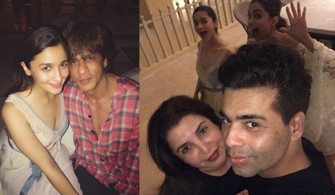 Alia with SRK and Karan with Farah