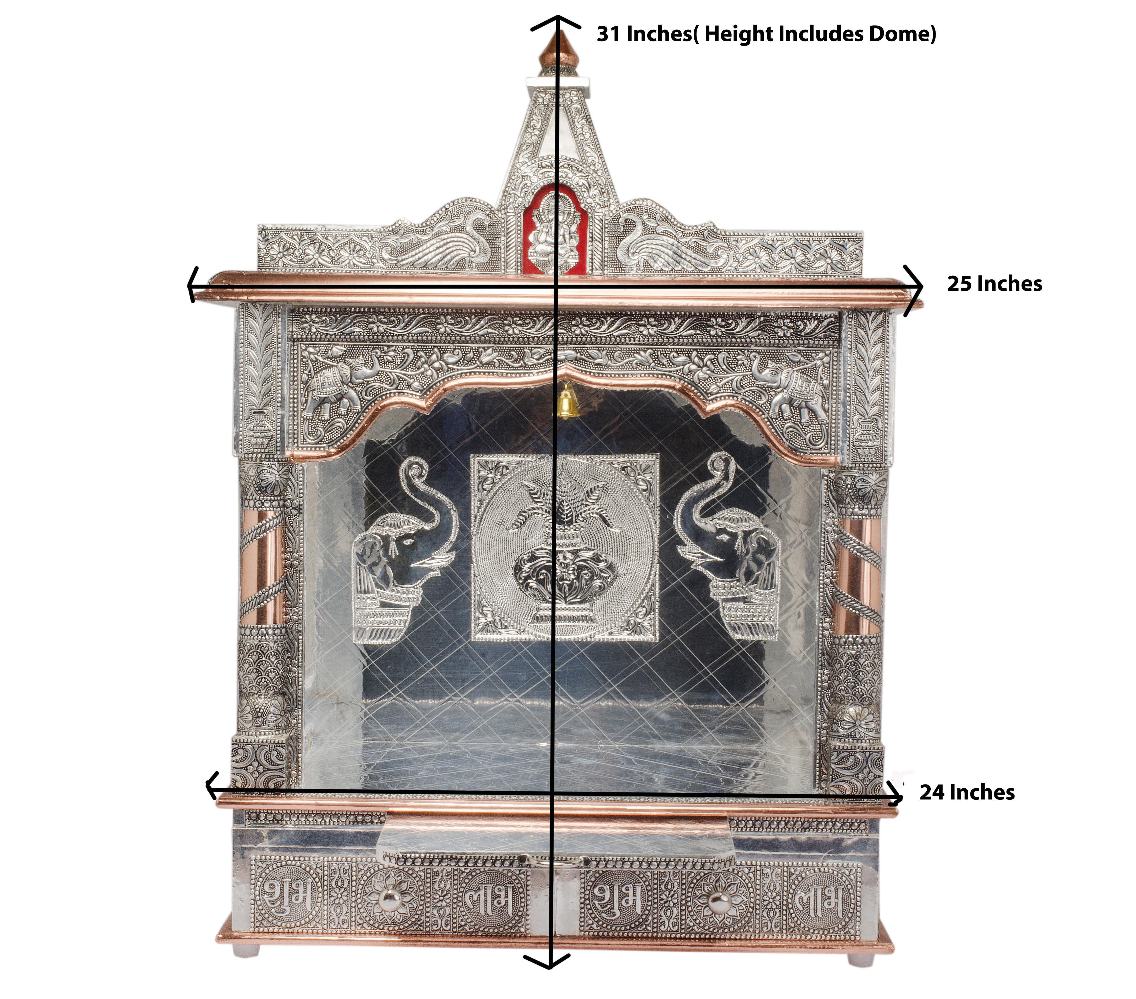 Best Kitchen Gallery: Hindu Puja Mandir Temple For Home Altar W O Doors 25 X 10 X 31 of Home For Hindu Temple Usa on rachelxblog.com