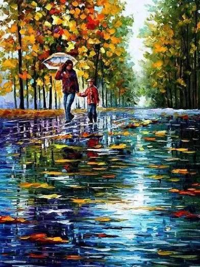 Rainy Day Of Autumn Season