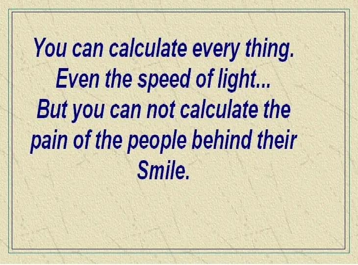 Pain Behind Smile