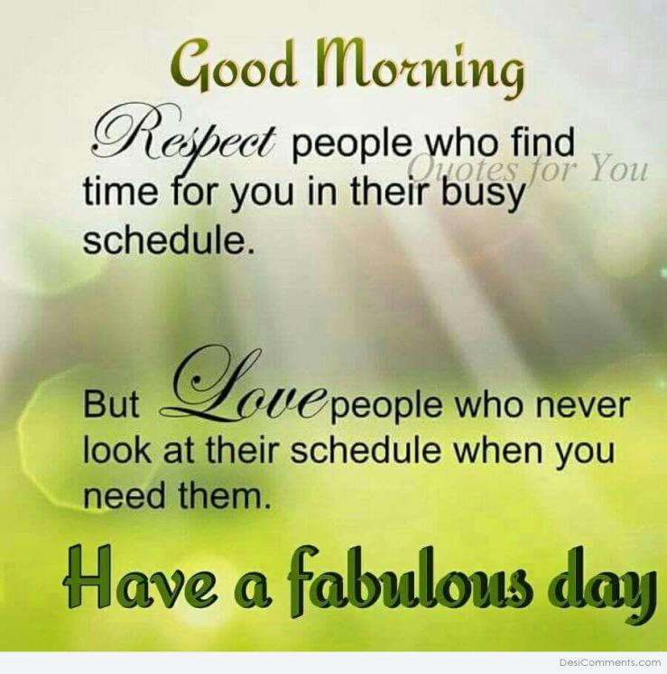 Good Morning – Respect People - DesiComments.com