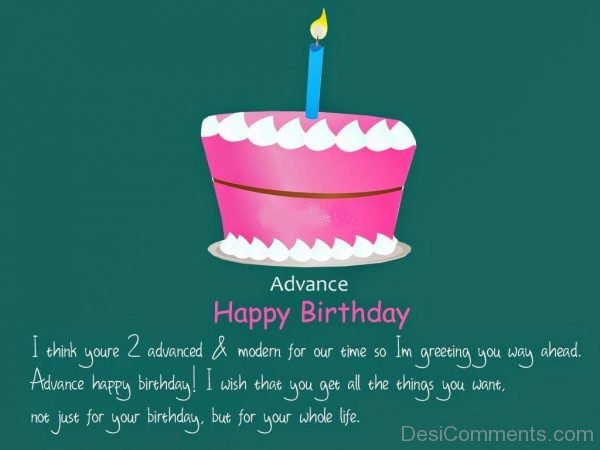 Advance Happy Birthday Pictures Images Graphics Page 3