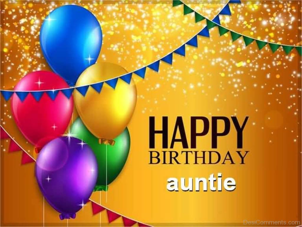Image Of Happy Birthday Auntie Desicomments Com