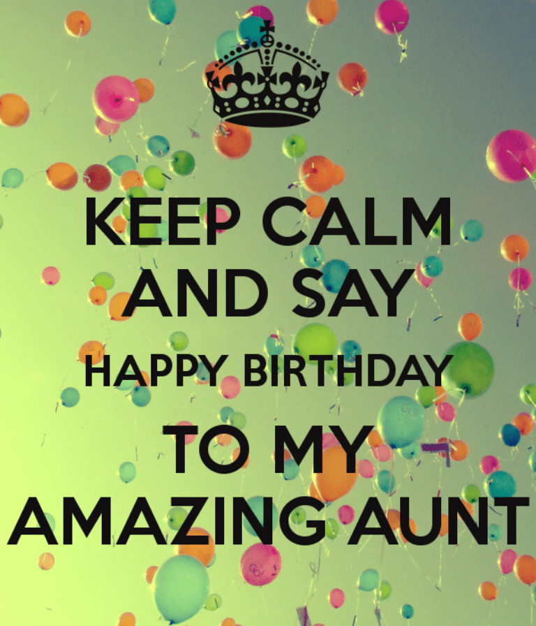Keep Calm And Happy Birthday To My Amazing Aunt Desicomments Com