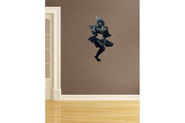 black krishna iron wall hanging