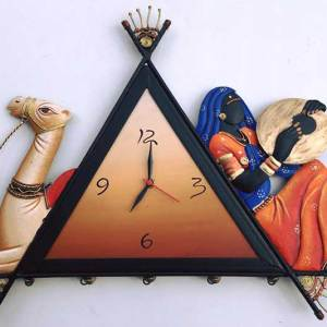 Camel-Lady-Wall-Clock