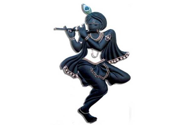 black krishna wall hanging
