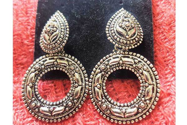 Oxidized Silver plated chandbalis