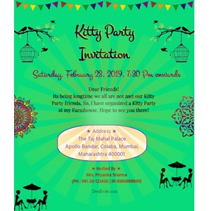 Free Kitty Party Invitation Card Online Invitations