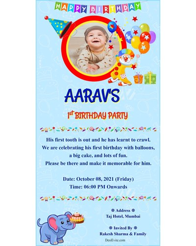 free birthdays invitation card online