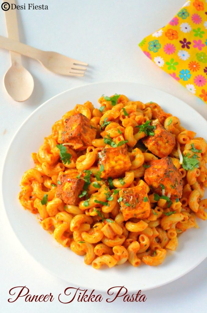 Paneer tikka pasta recipe indian style paneer tikka pasta pasta pasta recipes forumfinder Image collections
