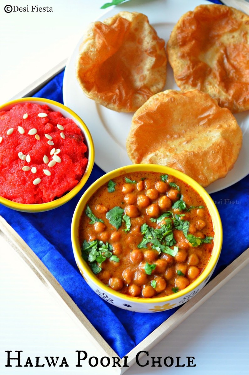 Halwa Poori Chole | Breakfast Recipe