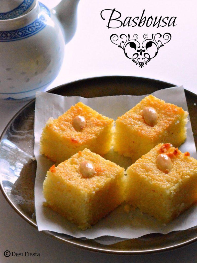 Eggless Coconut Semolina Cake Recipe