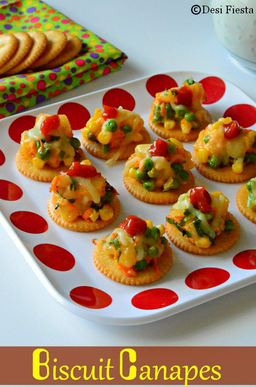 Biscuit Canapes With Vegetable Topping Monaco Canapes