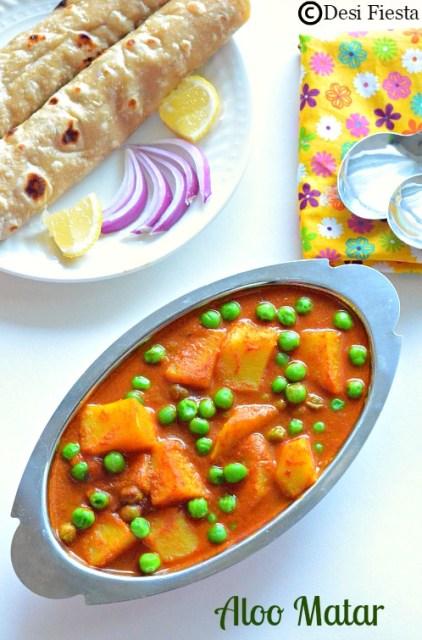 Punjabi Aloo mutter recipe with no onion no garlic