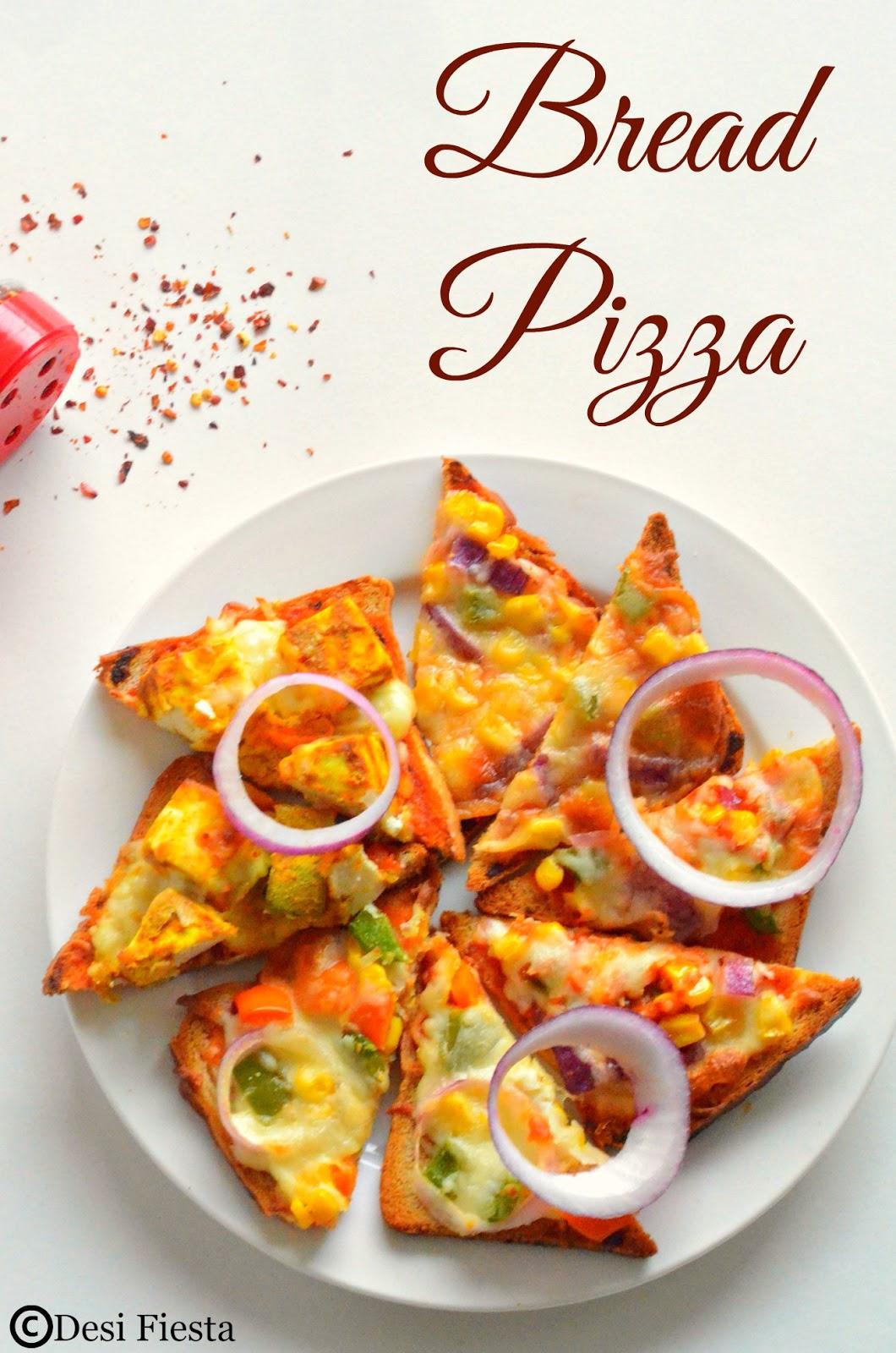 Bread Pizza Recipe  Instant Pizza Quick Pizza - Kids ...