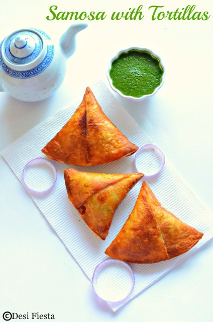 How to samosa with tortilla ( with no dough)