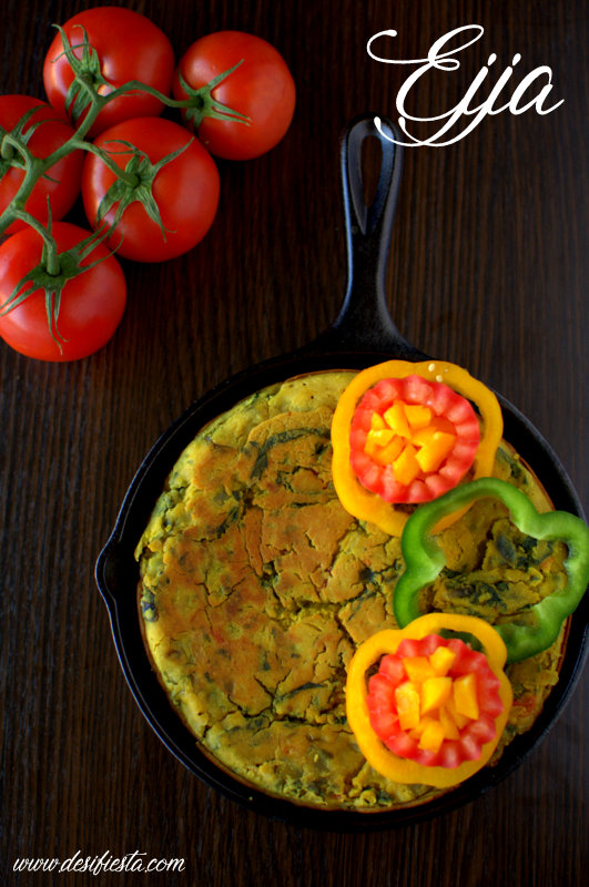 Ejja libyan frittata recipe eggless frittata recipe desi fiesta ejja is libyan breakfast frittata byan cuisine is a combination of mediterranean and african cuisine from their breakfast they have bazin with is forumfinder Gallery