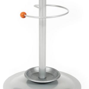 Art.COMP07 - Portaombrelli metallico con particolare in legno.