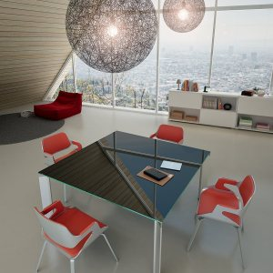 Art.TAR01- Tavolo riunioni in vetro. Disponibile in diverse finiture e dimensioni (DVO)