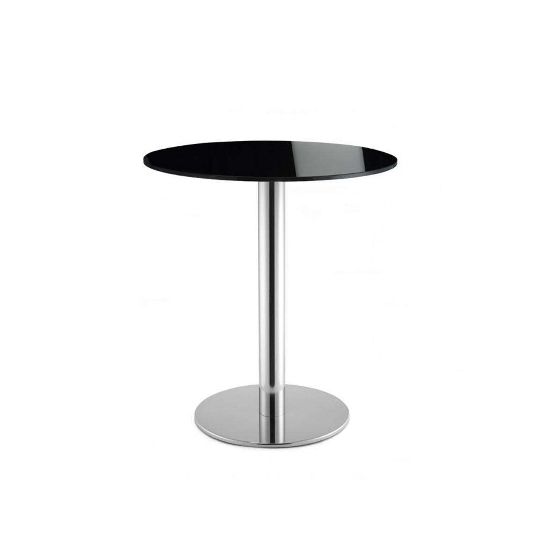 Art. TV09 -Tavolino con piano in vetro, e struttura cromata, disponibile anche in altre finiture. (SCAB)