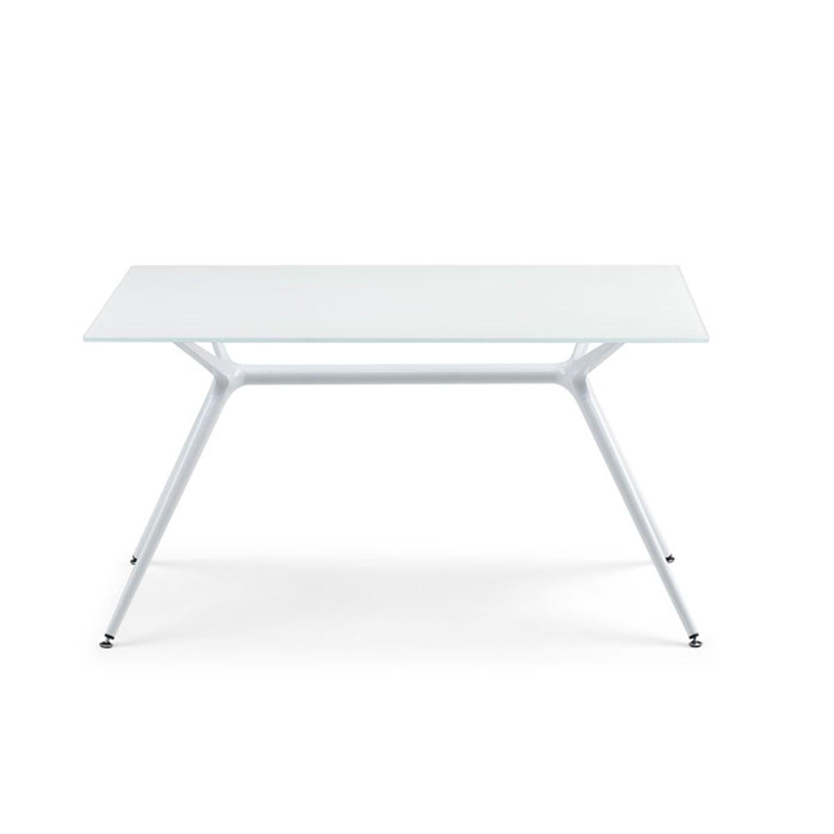Art.TV04 - Tavolo con piano e struttura in bianco, disponibile in altre colorazioni. (SCAB)