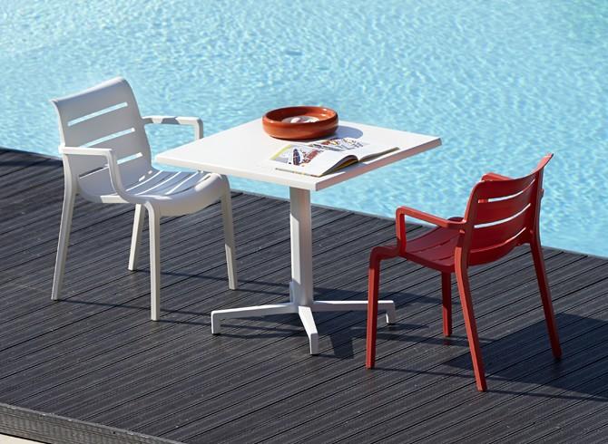 Art. TV07 - Tavolino con struttura e piano in bianco. Disponibile in altre finiture (SCAB)
