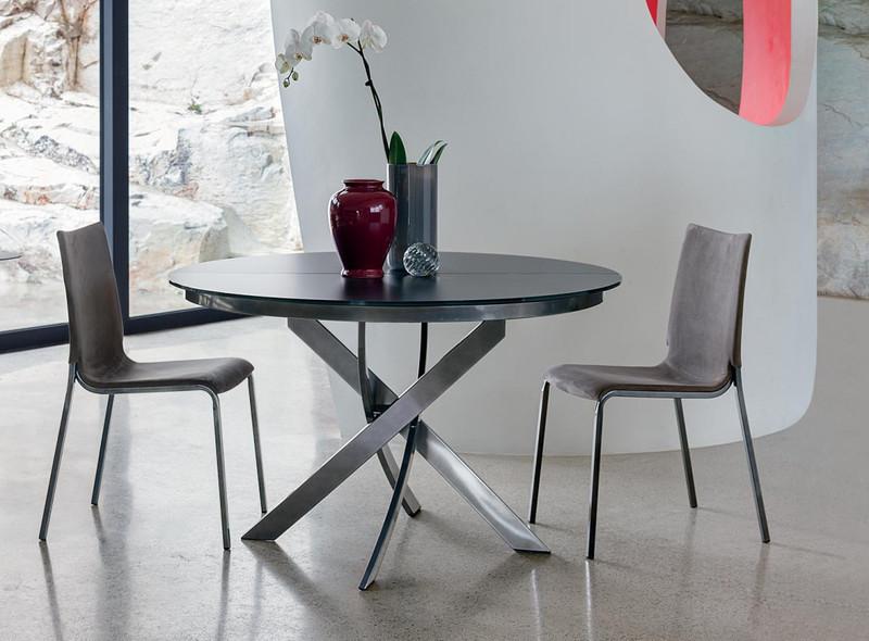 table ronde allonge barone bontempi