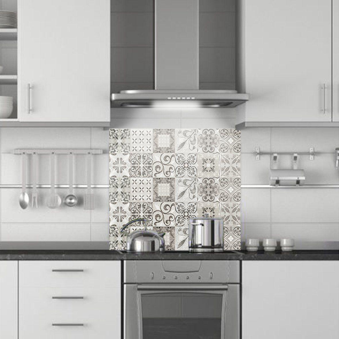 credence de cuisine decorative carreaux de ciment usure