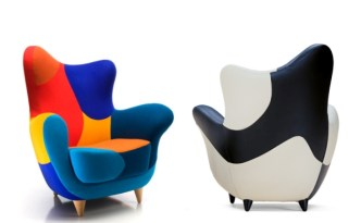 The Alessandra Armchair (Bergere) by designer Javier Mariscal for Los Muebles Amorosos Collection of Moroso (© Moroso & Javier Mariscal)