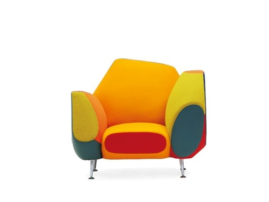 "The ""Hotel 21 Grand Suite"" Armchair (Los Muebles Amorosos Collection) by Spanish designer Javier Mariscal for Moroso (© Moroso & Javier Mariscal)"
