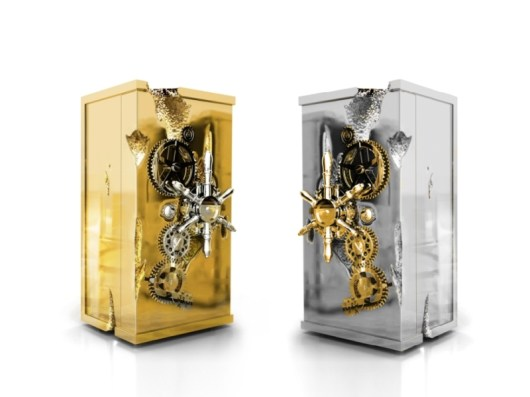 MILLIONAIRE & MILLIONAIRE SILVER Safe Box & Cabinet by BOCA DO LOBO (Private Collection) - Copyright: ©BOCA DO LOBO